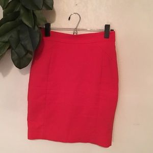 H&M Red Pencil skirt size 4